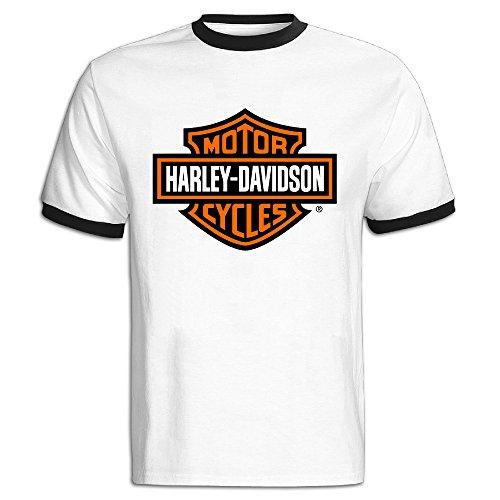 7e40a1cffbdbd Hombres de Harley Davidson Motocicleta Logo Camiseta de Bloque de Color