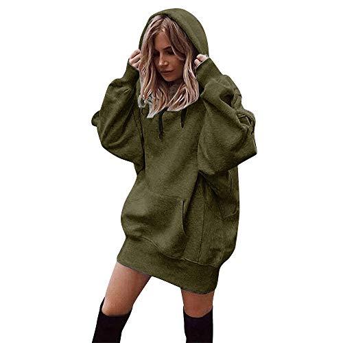 MYMYG Damen Hoodie Kapuzenpullover Pullover Mit Kapuze Sweatshirt Lange Ärmel Tunika Tops Slim Fit...