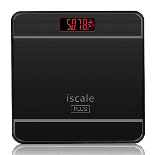 Digital Bathroom Scale Design Tempered Glass Black 150kg Scale
