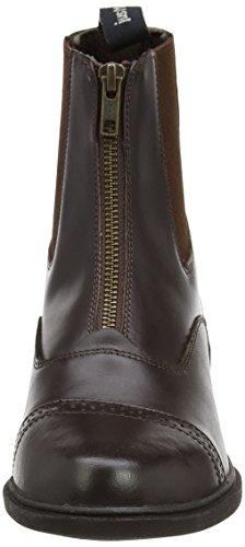 Just Togs Beaumont Boots Jodhpur en cuir avec zip de fermeture Marron
