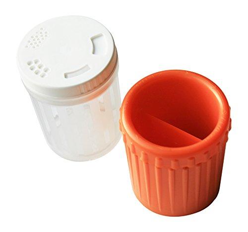 SVIM 520 Küchenreibe mit Auffangbehälter - 3 Reibescheiben zum Wechseln in schneeweiß