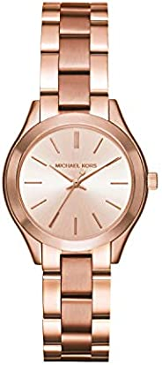 Michael Kors Ladies Mini Slim Runway Rose Gold Plated Bracelet Watch MK3513