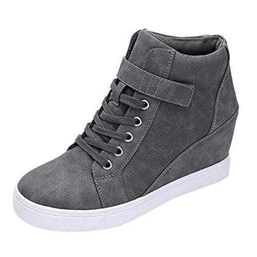 Zapatos Mujer Zapatillas Deportivas Cuña Cómodos Mocasines Plataforma Sneaker Calzado...