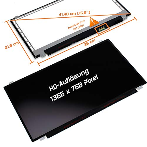 "Laptiptop 15,6"" LED Display Screen matt Ersatz für HP 15-Ba024ng 1366x768 HD 30pin Bildschirm Panel"