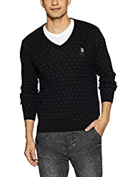 US Polo Assn. Mens Cotton Sweater (8907378316479_USSW0618_Small_Black)