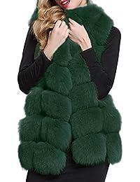 Femmes Chaud Gilet Outwear Faux Fourrure Gilet Sans manches Veste Hiver  Manteau Tops Cardigan Gilet Noir d3cc47724d1
