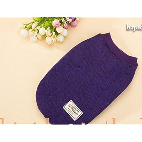ropa para mascotas perros pequeños pies ropa suéter del animal doméstico , purple , l