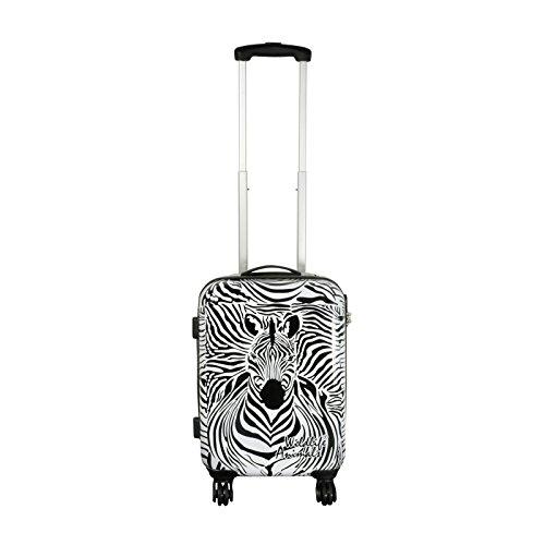 Trendyshop365 - Polycarbonat Reisekoffer Trolley - Zebra Hartschalenkoffer 25 Liter Volumen - Koffer Hartschale in S