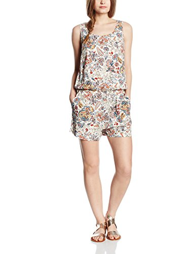 Only Onlnova Bright S/L Playsuit Wvn, Combinaisons Femme Multicolore - Mehrfarbig (Whitecap Gray AOP:BRIGHT AUTUMN FLOWER)