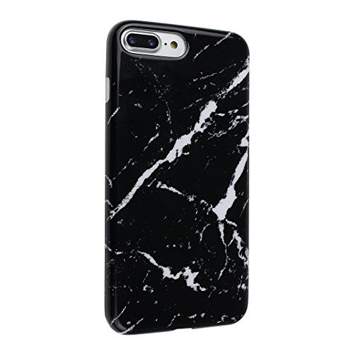 Schutzhülle iPhone 7/8 Plus 5.5 Zoll, iPhone 8 Plus Handyhüllen, iPhone 7 Plus Silikon Hülle mit Marmor, Marble Design, Moon mood® TPU 3D Handyhülle Muster Case Cover für Apple iPhone 7 Plus/iPhone 8  Marmor 13