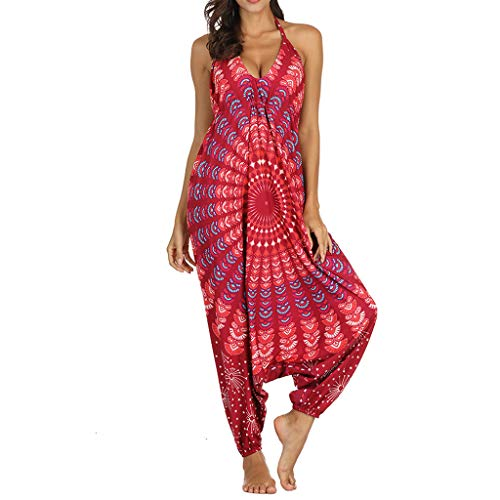 Gypsy Harem (Battnot❤ Damen Jumpsuit Lange Sommer Lose Gym Yoga Gypsy Jogging Baggy Palazzo Harem Hosen V-Ausschnitt Ärmelloses Elegant Party Overall, Frauen Casual Strampler Playsuit Spielanzug Womens Rompers)