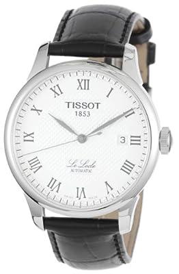 Tissot T41142333 - Reloj de caballero automático, correa de piel color negro
