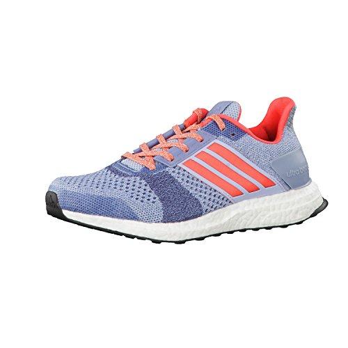adidas Ultra Boost St W, Chaussures de Running Entrainement Femme bleu ciel/rose corail/gris foncé