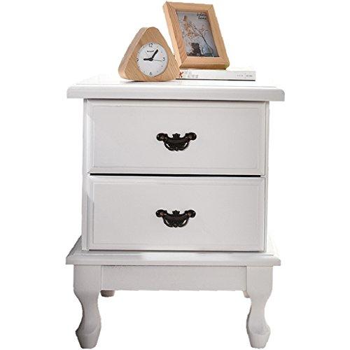 Comodino armadio di stoccaggio con cassetti legna bianca camera da letto armadietti