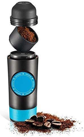 KaiKai Tragbare Kaffeemaschine, 2 in 1 Kapsel Boden Mini Espresso Kaffeemaschine, Wasser USB-heiße und kalte Extraction Kaffee-Puder-Kapsel-Maschine