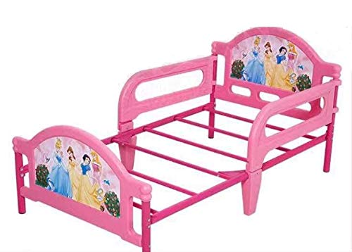 Iris Children Furniture Deluxe Toddler Steel Bed with Attached Guardrails