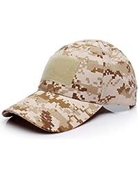 Malloom Unisex Hombres Mujeres Sombrero Gorro Camuflaje Selva Beisbol  Ejército Caza Visera Sombrero Sol al Aire 7bee38a0032