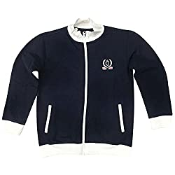 Gini & Jony Boys Zip Through Neck Solid Jacket_Dark Blue_8-9 Years