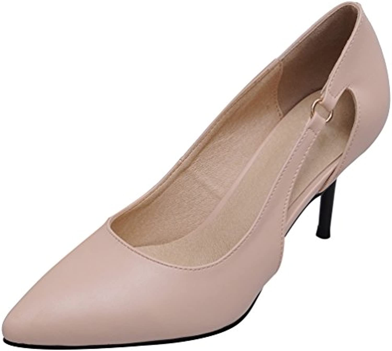 b0712fe7f43a Salabobo 1073 ladies Hollow OL OL OL Comfort Work Wedding Bride Bridesmaid  Party Job Pointed Toe Stiletto Cone Heeled... B0756YBYD4 Parent 33c9e0