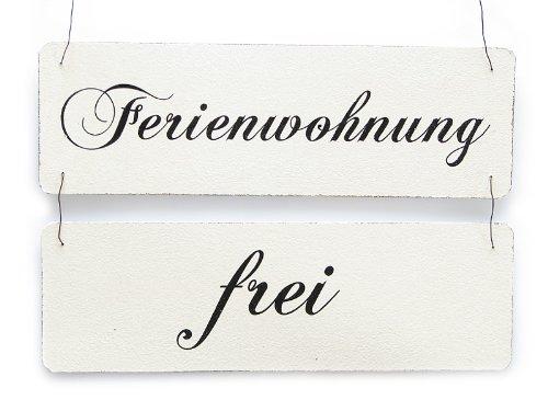 Vintage Shabby Schild Türschild FERIENWOHNUNG FREI BELEGT Holzschild Ferienhaus