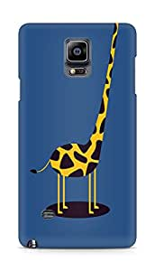 Amez designer printed 3d premium high quality back case cover for Samsung Galaxy Note 4 (Giraffe cute blue tall minimal simple)