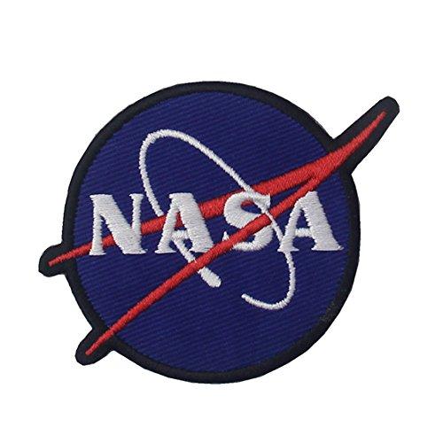 Embird Toppa ricamata con logo NASA da cucire o applicare con ferro da stiro, colore: blu