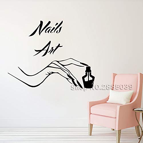 Vinyl Nail Salon Wall Decal Sticker Nail Manicure Store Wall Stickers Pedicure Beauty Salon Art Mural Custom Colors L M 71cm x 56cm