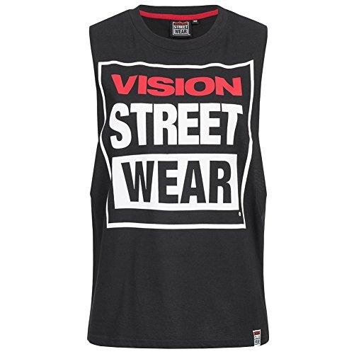 8200095a30fb5 Vision Street Wear Damen Fitness Crew Neck Tank Top Shirt CL3101 black
