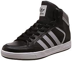 adidas Originals Mens Varial Mid Cblack, Lgsogr and Ftwwht Leather Sneakers - 10 UK/India (44.67 EU)