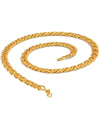 Chain For Men(Alloy Gold Plated Latest Men's Chain) - B074H2BHKX