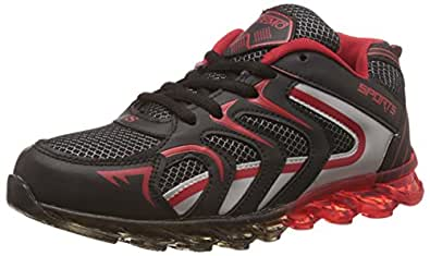 Steemo Men's Black and Red Running Shoes - 10 UK/India (44 EU)(STM1025)