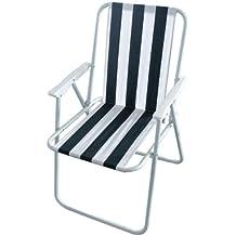 silla exterior plegable de ocio milestone silla plegable de playa blanca 52 x 47