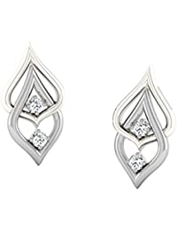 His & Her Diamonds .925 Sterling Silver and Diamond Stud Earrings