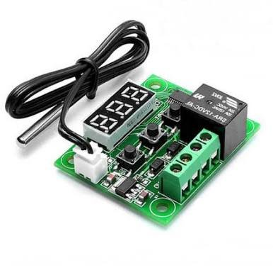 Robotbanao W1209-50~100 Digital Temperature Controller 12v and Sensor Thermostat, Green and Black