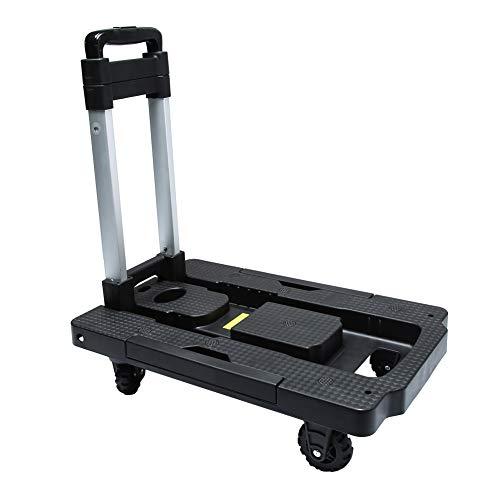 Kampeaburr Carrello pieghevole carrello pieghevole 5 ruote Rotazione 360 ° capacità massima 330LB adatto per dispositivi mobili movimentazione