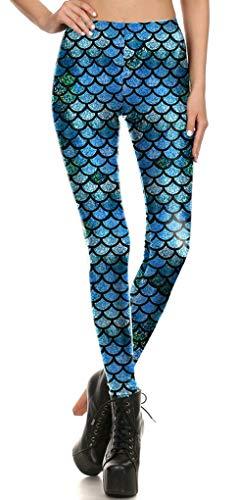 HX fashion Leggings Mujer Y Top Apariencia De Sirena