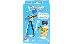 Playbrush© - Bluetooth Zahnputzaufsatz für Kinderzahnbürsten zum spielerischen Erlernen der richtigen Zahnpflege, Blau, 1 Stück