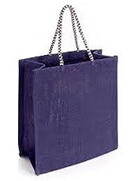 Generic Puneri Unisex Stylish Floweral Print Jute Tiffin Bag Pink Color