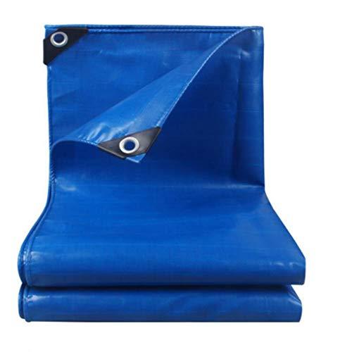 HuaHua Furniture Robust Abdeckplane, Wasserdichtes, leichtes und strapazierfähiges, blaues Planen-Bodendeckel-Verdickungstuch for Camping, Angeln, Garten und Stall (Size : 4x4m)