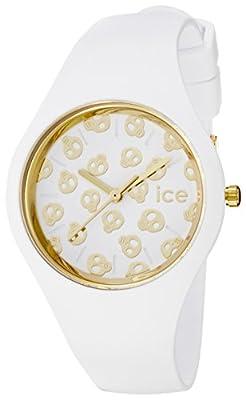 Ice-Watch - ICE skull White Gold - Reloj bianco para Mujer con Correa de silicona - 001262 (Small) de ICE-Watch