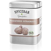 Muskatnuss in Premium Bio Qualität, Muskat Handverlesen 10-12 Stk. (60g), Muskatnüsse ganz