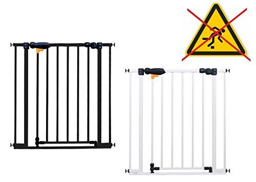 Impag Türschutzgitter Treppenschutzgitter 73 - 142 cm zum Klemmen SafeStep + 20 Weiß