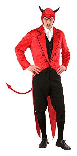Halloween Teufel Kostüm für Herren - (Kostüm Herren Teufel)