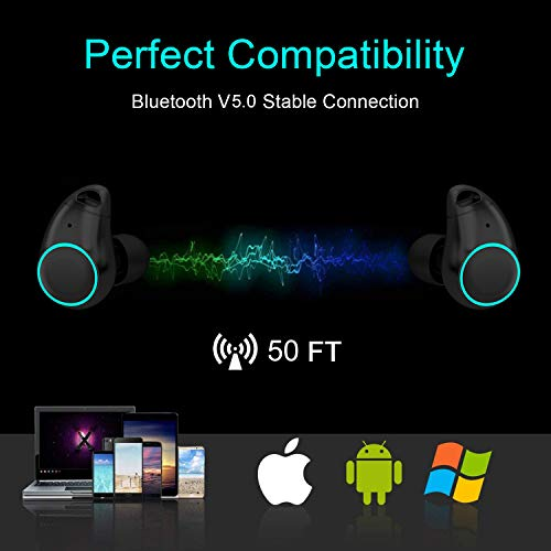 Arbily Bluetooth Kopfhörer Kabellos In Ear True Wireless Earbuds mit Portable Mini Ladebox,Bluetooth V5.0 Stereo Headset Sport Ohrhörer,Noise Cancelling Kopfhörer mit Mikrofon - 9