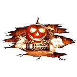 Wandsticker,Transwen Happy Halloween Home Haushalt Zimmer Wand Aufkleber Wandbild Decal Removable New Wandaufkleber Fenster Wohnzimmer Aufkleber (Mehrfarbig)