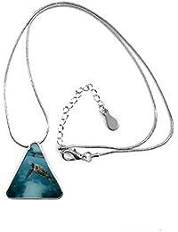 Océano Agua Luz Buceo ciencia naturaleza imagen lágrima forma colgante collar joyas con cadena decoración regalo
