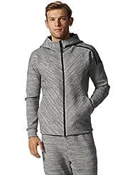 adidas Herren Zne Roadtr Hood Sweatshirt, Grau, XL