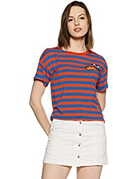 DJ&C By fbb Women's Striped Regular Fit T-Shirt