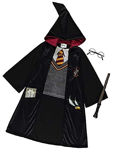 George Deluxe Halloween Kinder Harry Potter Kostüm Outfit Kostüm (9-10 Jahre) (Harry Potter Kind Kostüm Kit)