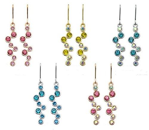 Bling Jewelry 3cm-Oro 18K Lucido E Cristalli